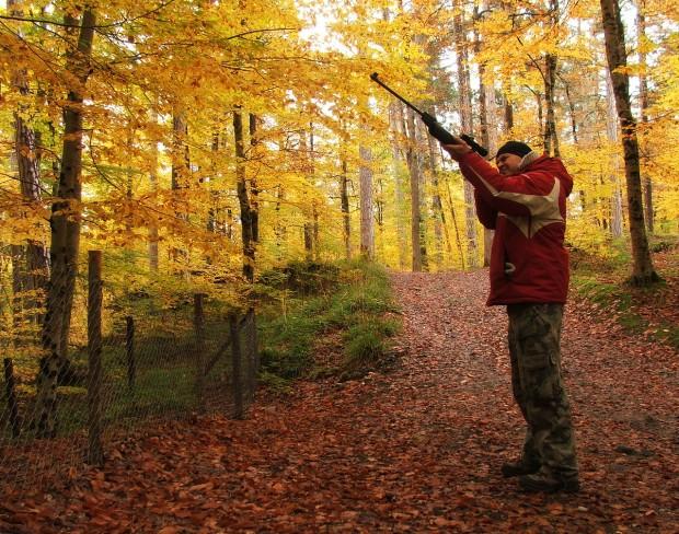 Jägare om hösten